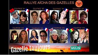 Hanan et Christelle du Team 'Cornes de Gaz'Elles' de Montech au départ du Rallye des Gazelles 2016